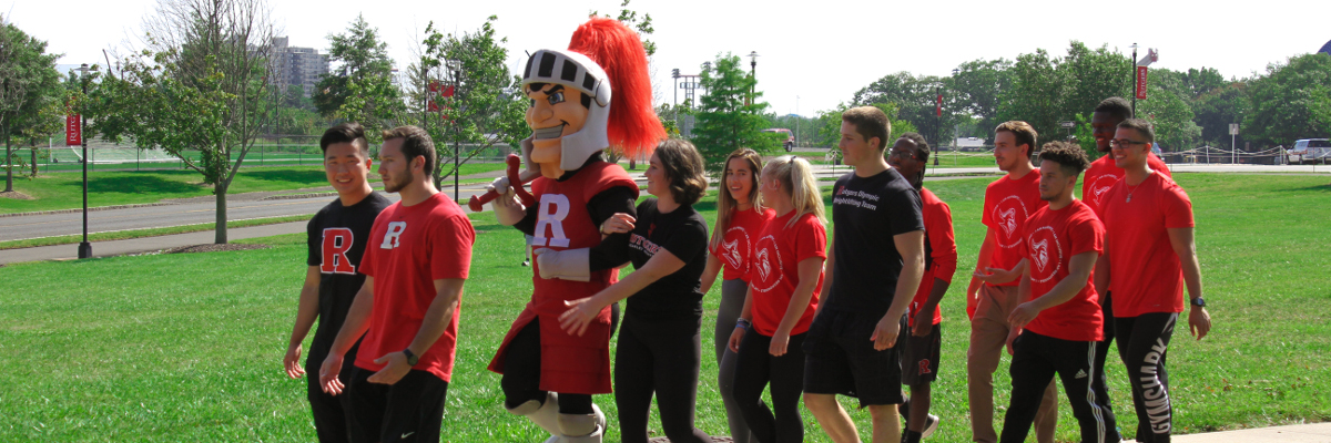 Scarlet Knight with students
